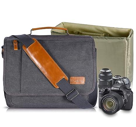 262c051b1ee5 Image Unavailable. Image not available for. Color  Estarer Camera Shoulder  Bag for SLR DSLR Digital Cameras Laptop Canvas Messenger ...