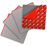 Creative QT Peel-and-Stick Baseplates - Self Adhesive Building Brick Plates - Compatible with All Major Brands - 4 Pack - Grey - 10 inch x 10 inch