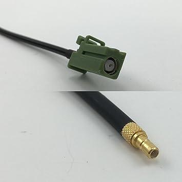 Cable coaxial RG174 Avic Green Pioneer Jack a SSMB Macho Pigtail Jumper RF 50 Ohm: Amazon.es: Electrónica