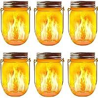 Aubasic Solar Mason Jar Lights, 20 Leds Waterproof Fairy Firefly String Lights Build-in Glass Mason Jar, Best Patio Yard…
