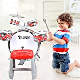COLORTREE Kid's Jazz Drum with Chiar Musical Instrument Toy