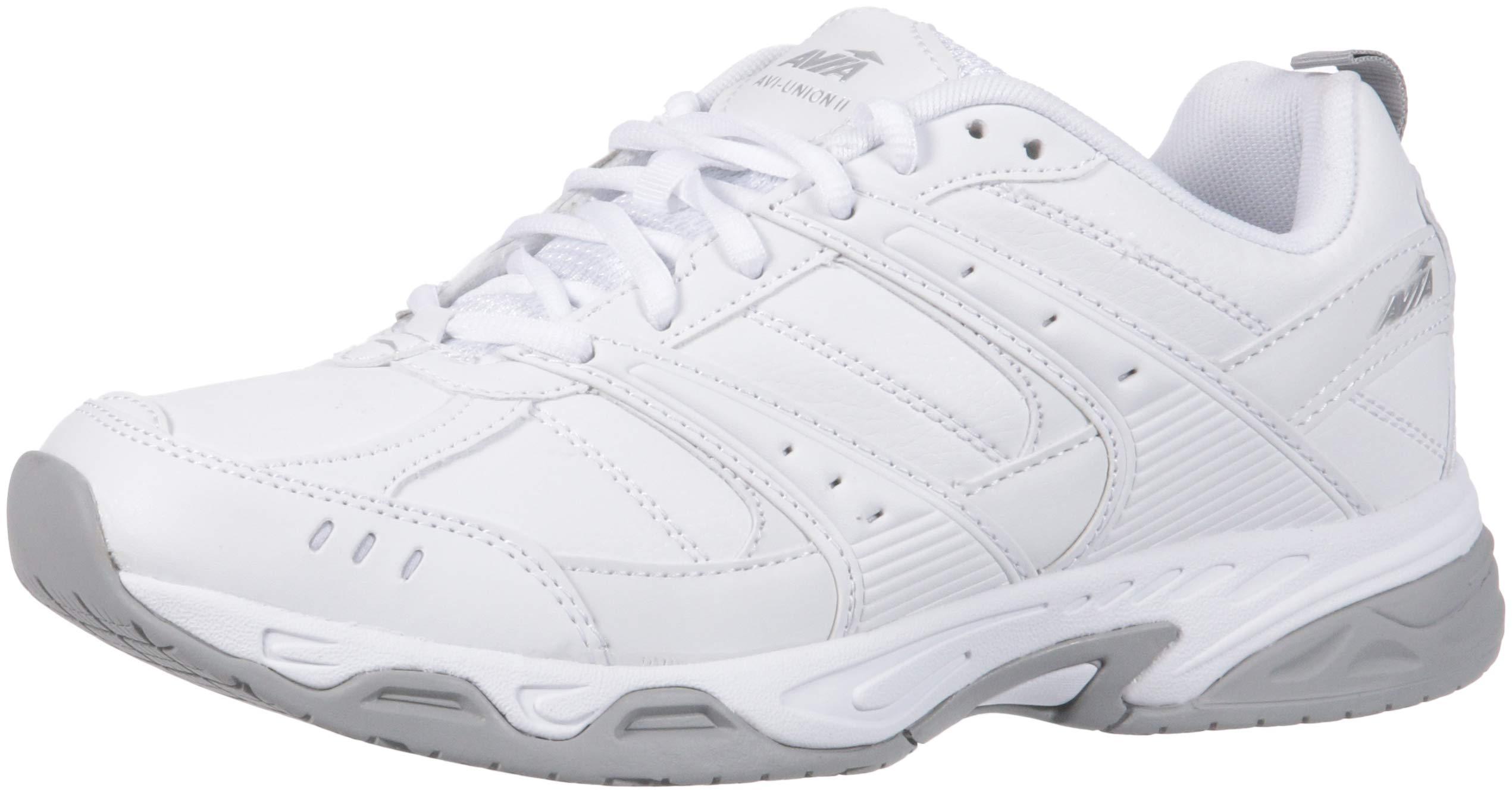 Avia Men's Avi-Union II Food Service Shoe, White/Chrome Silver, 8.5 Medium US