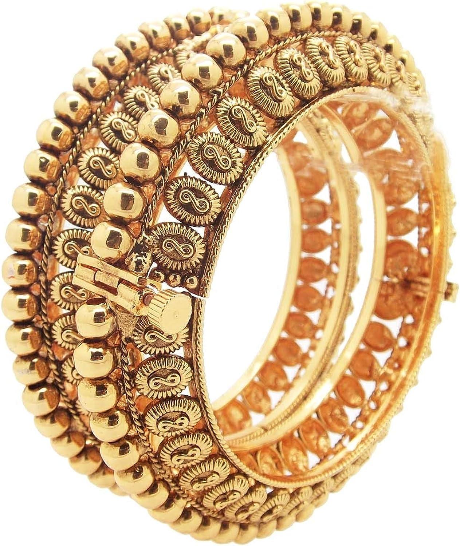 Biyu Vivaah Copper Gokhru Screw Openable 2pc Kada Bangle 00116-25250