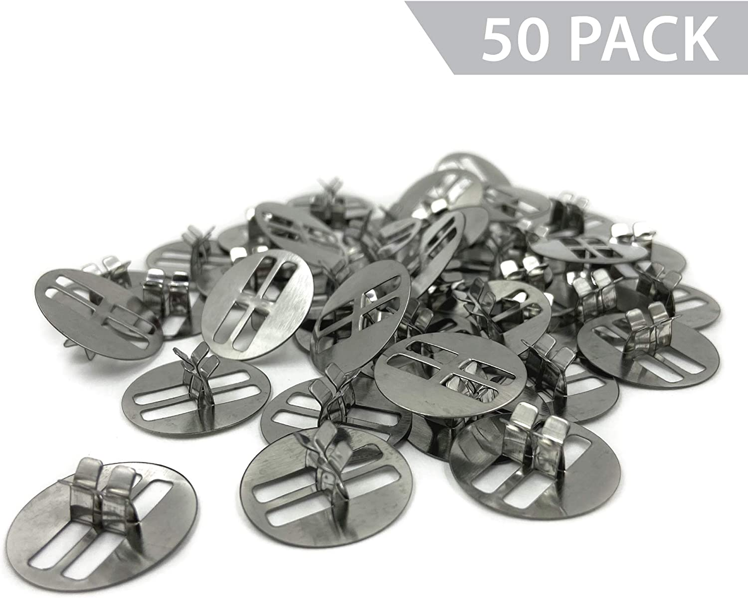 50 Pack Longer Burn Time /& Less Wasted Wax Universal Wood Wick Clips for Candles Sustainer Tabs Fit Most Wooden Wicks