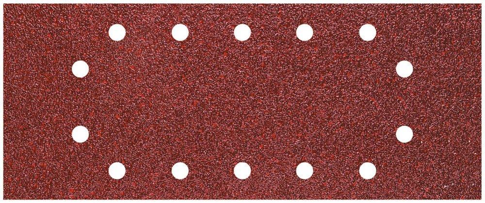 grano 40,80,120; perforadas 115 x 280 mm WOLFCRAFT 1986200-25 hojas de lija de corind/ón