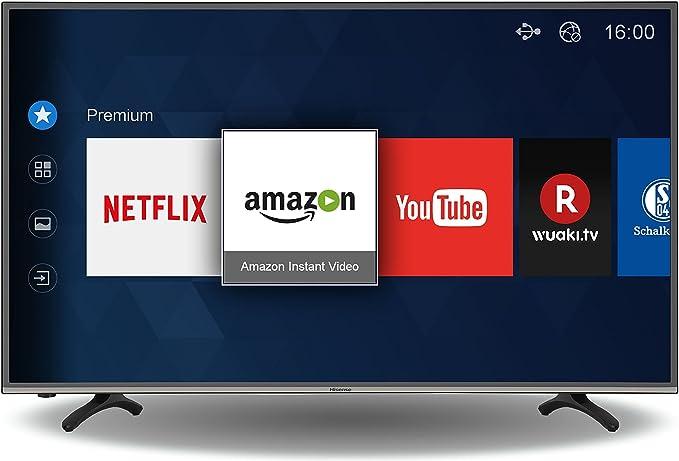 Hisense HE43K300UWTS - Televisor 4K Ultra HD de 43 (16:9, 3840 x 2160 Pixeles, HDMI, WiFi), Color Negro: Amazon.es: Electrónica