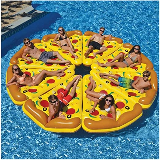 Kimmyer 8 Paquetes Enorme Inflable Pizza Slice Pool Float, Extra ...