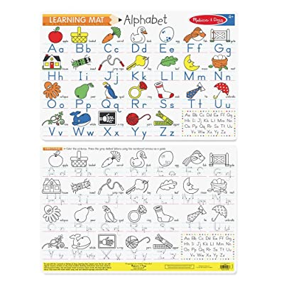 Melissa & Doug Alphabet Write-A-Mat Puzzle: Toys & Games