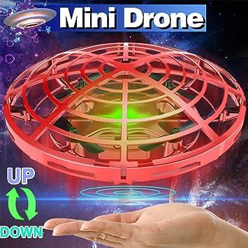 TURNMEON UFO Pelota voladora Juguetes, Mini cuádruple Drone Auto ...