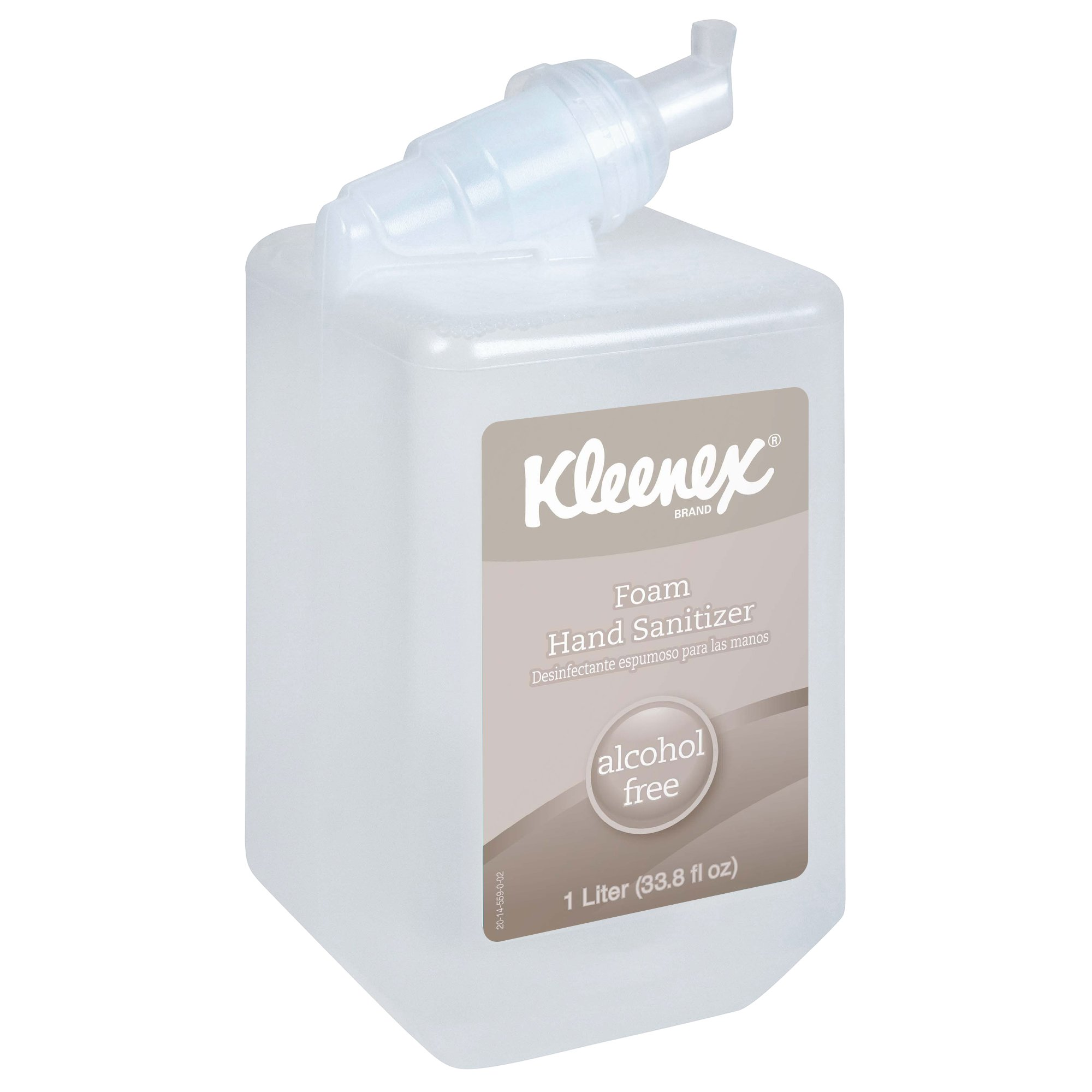 Kleenex Alcohol Free Foam Hand Sanitizer (12977), Clear, Unscented, 1.0 L Cassette for Manual Dispenser, 6 / Case by Kimberly-Clark Professional