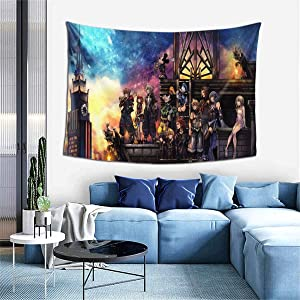 TeriDDeas Wall Hanging Tapestry Kingdom Hearts Animation for Apartment Home Art, Wall Hanging Tapestry Decoration, Bedroom Living Room Dormitory Fashion 60 40inch