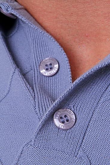 YSL Yves Saint Laurent Jersey de Punto Fino, Color: Azul: Amazon ...