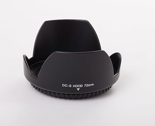 vhbw Gegenlichtblende Streulichtblende Weitwinkel schwarz 72mm f/ür Kamera Objektiv Sony E 18-105 mm F4 G OSS PZ SEL-P18105G