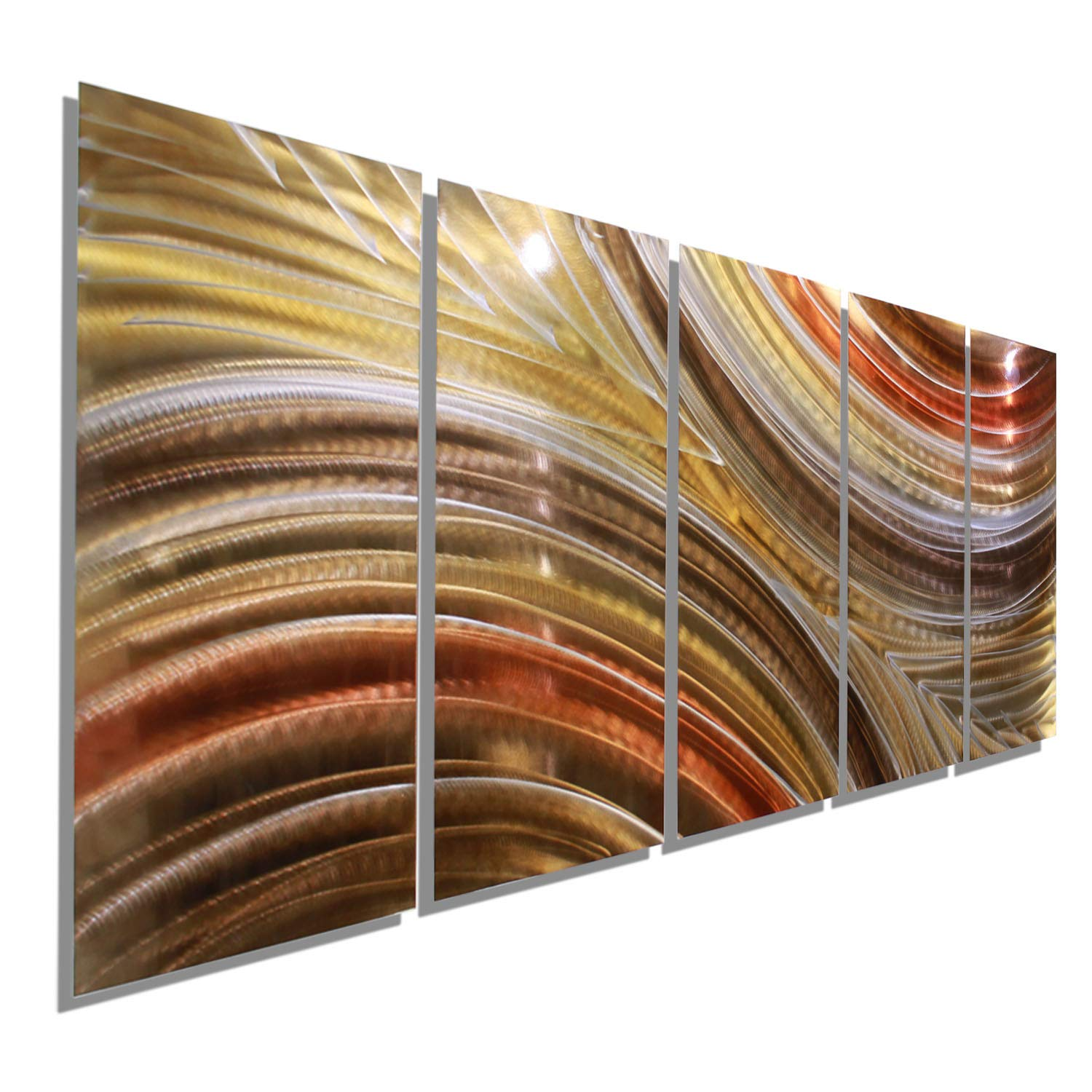 Extra Large Brown Copper Gold Earthtone Modern Abstract Metal Wall Art Hanging Home Accent Home Decor Contemporary Wall Painting Autumn