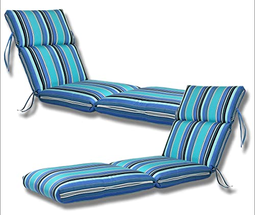 Comfort Classics Inc. Set of 2-22x74x5 Sunbrella Indoor/Outdoor Fabrics
