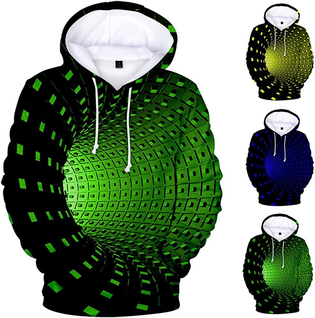 Chaofanjiancai Men Hooded Sweatshirt,Unisex Realistic 3D Print Galaxy Pullover Tops Fashion Hoodies with Pockets