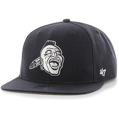 47 Brand Atlanta Braves Cooperstown Snapback MLB Cap Navy  Amazon.co ... 6860121dd2d8