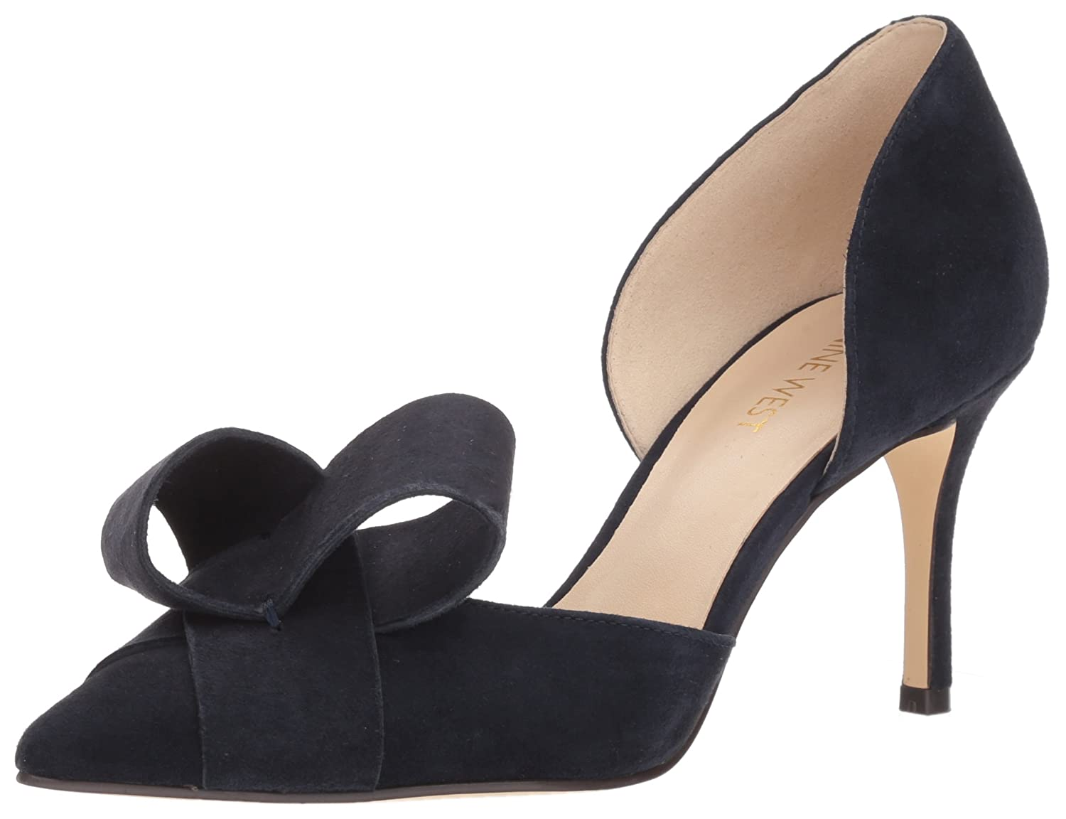 Nine West Women's Mcfally Suede Pump B072Q6FGDL 10.5 B(M) US|Navy Suede