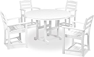product image for POLYWOOD PWS100-1-WH La Casa Café 5-Pc. Dining Set, White