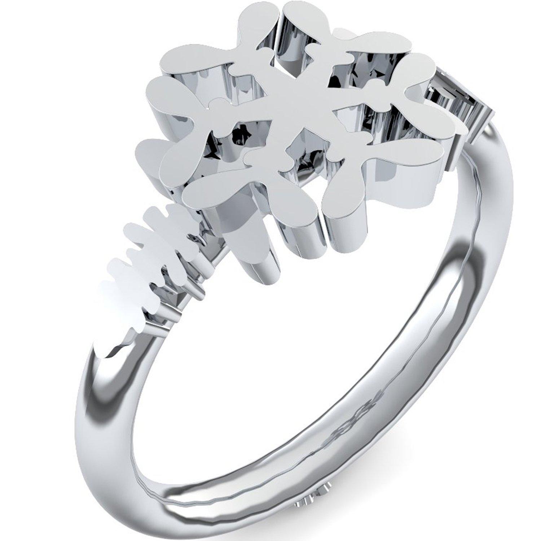 Weißgold ring ohne stein  Schneeflocke Ring Weißgold Ring 585 + inkl. Luxusetui + Ring ...