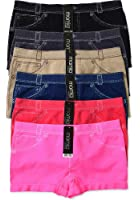 WS Women's Seamless Mamia Panties Boy Shorts Stretch Classy Sexy Multi-6 pack (Aztec-6pack)
