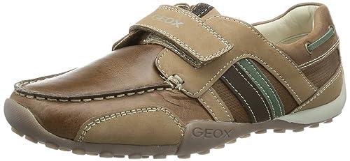 Geox Textil J SNAKE MOC E J3216E04332C0702 - Mocasines para niño, color marrón, talla 39: Amazon.es: Zapatos y complementos