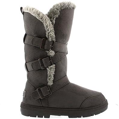 designer fashion 669b4 ae37c Damen Schuhe Triplet Schnalle Fell Schnee Regen Stiefel Winter Fur Boots