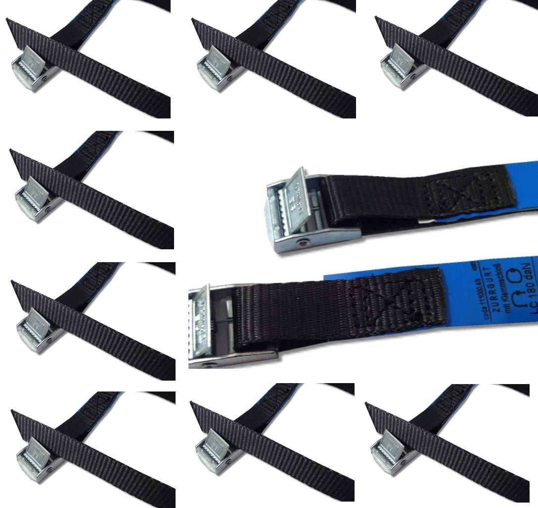 Fastening belt set fastening belt lashing strap clamping lock strap ideal for attachment to the bicycle carrier