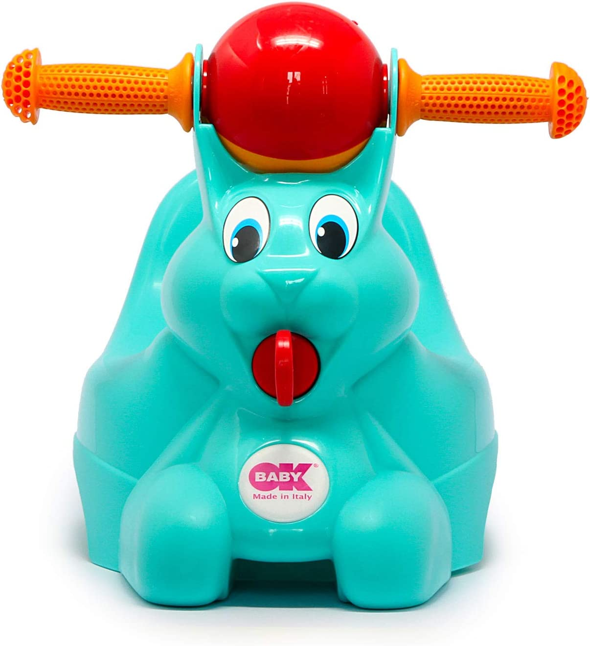 OK BABY Pot en Forme de Lapin Turquoise