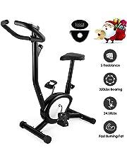 AGM Vélo d'appartement, Vélo d'intérieur Cardio Fitness Musculation Silencieux Facile écrans Ordinateurs réglable résistance Pas Cher 100 Kg Capacité