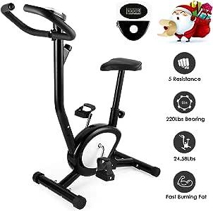 AGM Bicicleta Estáticas, Bicicleta Ejercicio Spinning Tamaño Compacto, Resistencia Variable, Pedales Antideslizantes - Sistema de Silencioso - Peso Máximo Soporte 100kg …: Amazon.es: Deportes y aire libre