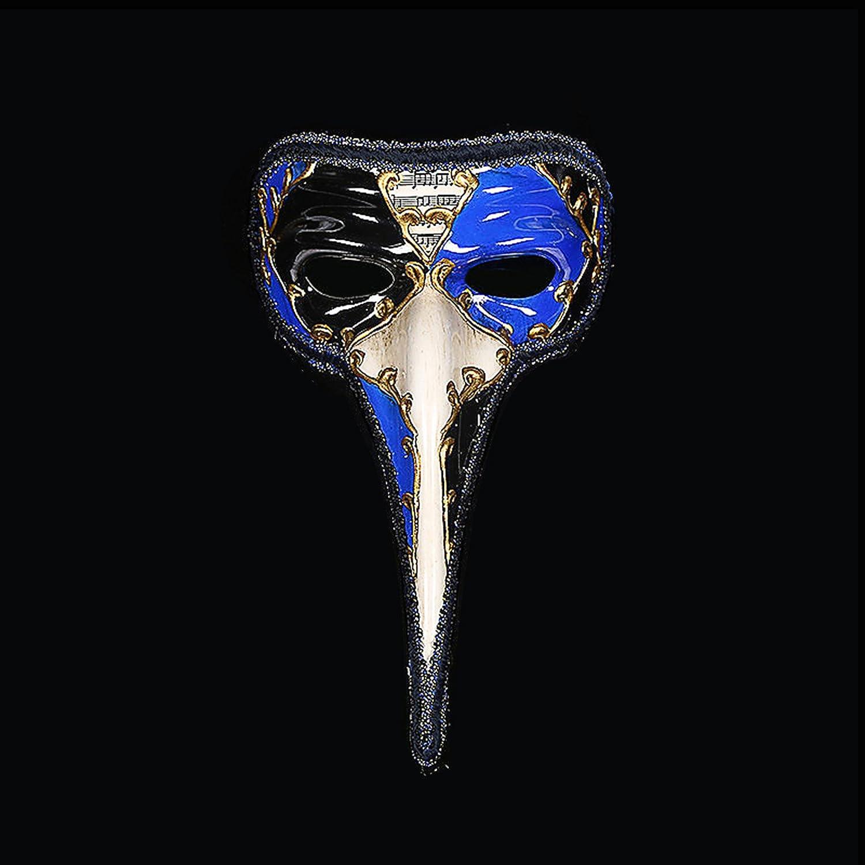 Maschera di carnevale veneziano uomo becco naso lungo uomini e donne (blu) 7bf9e45666e1