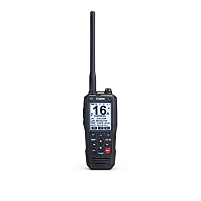 Uniden MHS335BT 6W Class D Floating Handheld VHF Marine Radio with Bluetooth, Text Message Directly To Other Vhf Text Message Capable Radios, IPX8 Submersible Design