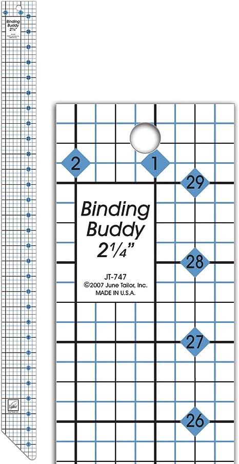 June Tailor 2-1//2-Inch Binding Buddy Ruler