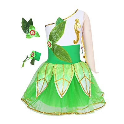 MSemis Kids Girls Princess Costume Sleeveless Bodice Dress Cosplay Party Dress-up Ballroom Gown: Clothing