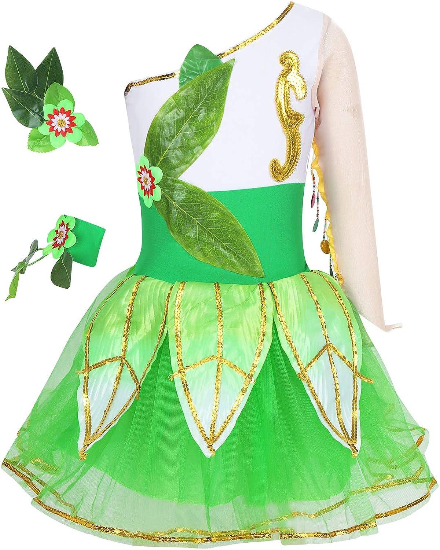 MSemis Disfraz Hada Vestido de Danza para Niñas Vestido Tutú ...