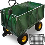 Deuba Model Choice - 500/300 kg Heavy Duty Garden Trolley DIY Outdoor Transport Cart Truck 114x105x52cm