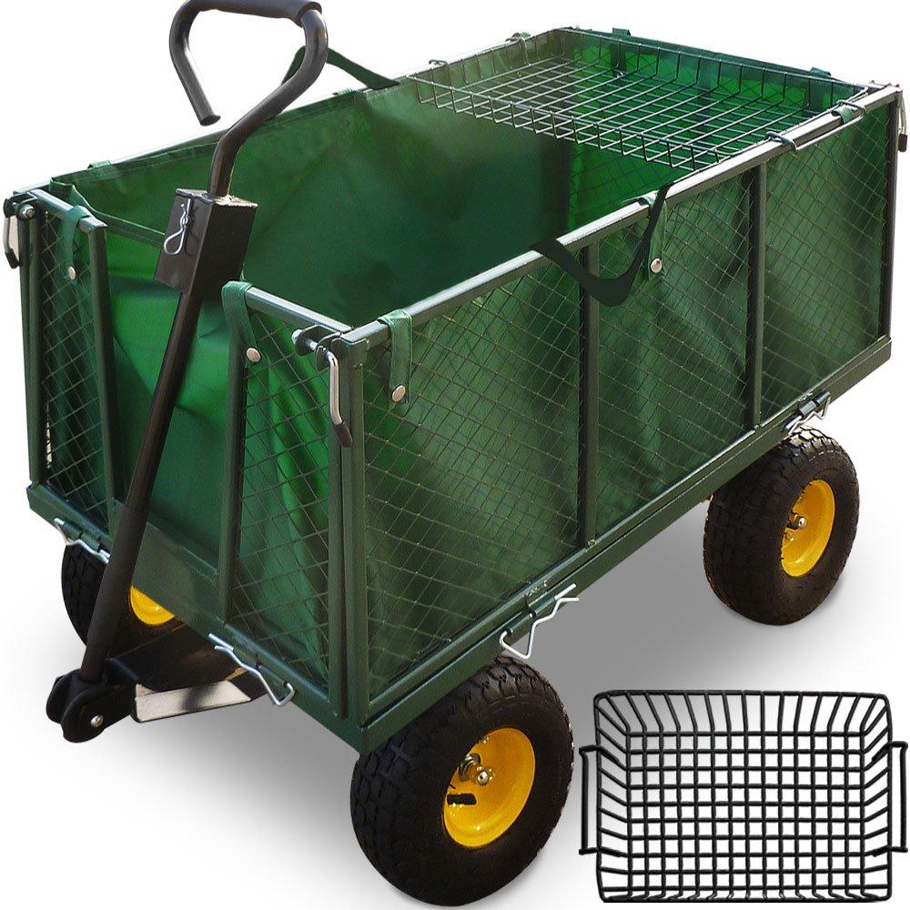 Deuba Model Choice - 500/300 kg Heavy Duty Garden Trolley DIY Outdoor Transport Cart Truck 114x105x52cm