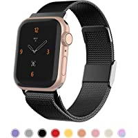 iGK Compatible with Apple Watch 38mm Band 40mm 42mm 44mm,Stainless Steel Mesh Wristbands with Adjustable Magnet Lock for iWatch Series 1/2/3/4/5