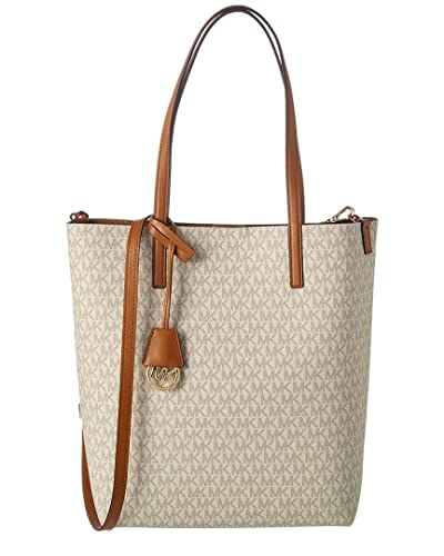 ad0706225e4f Amazon.com  MICHAEL Michael Kors Womens Hayley Leather Convertible Tote  Handbag Beige Large  Clothing