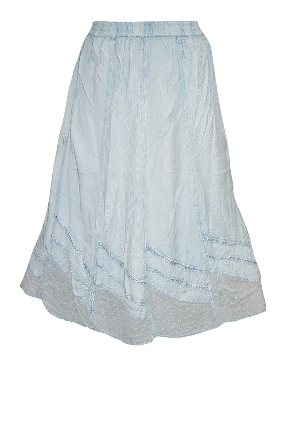 Mogul Interior Skirt With Lace Embroidered Trim And Detailed Embroidery Medium