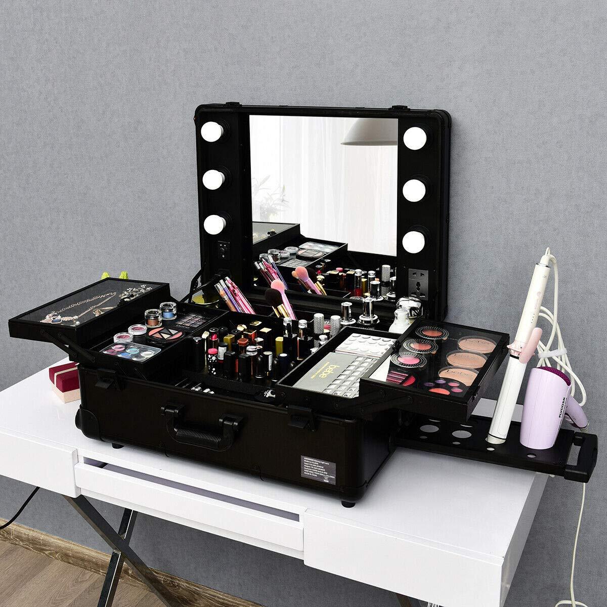 Amazon.com: Estuche de maquillaje portátil enrollable ...