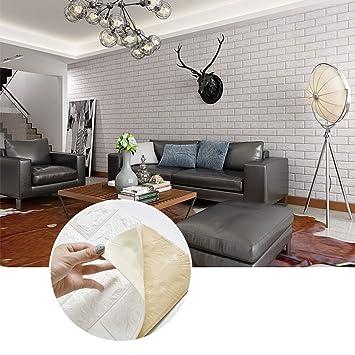 KINLO 5pcs Wandschutzfolie für Schlafzimmer TV Wohnzimmer Deko 3D ...