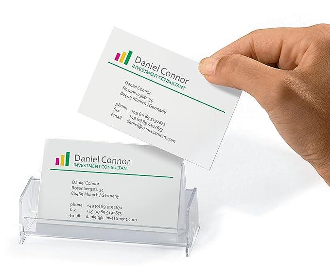 Visitenkartenhalter Für 50 Karten Sigel Va120 Visitenkarten