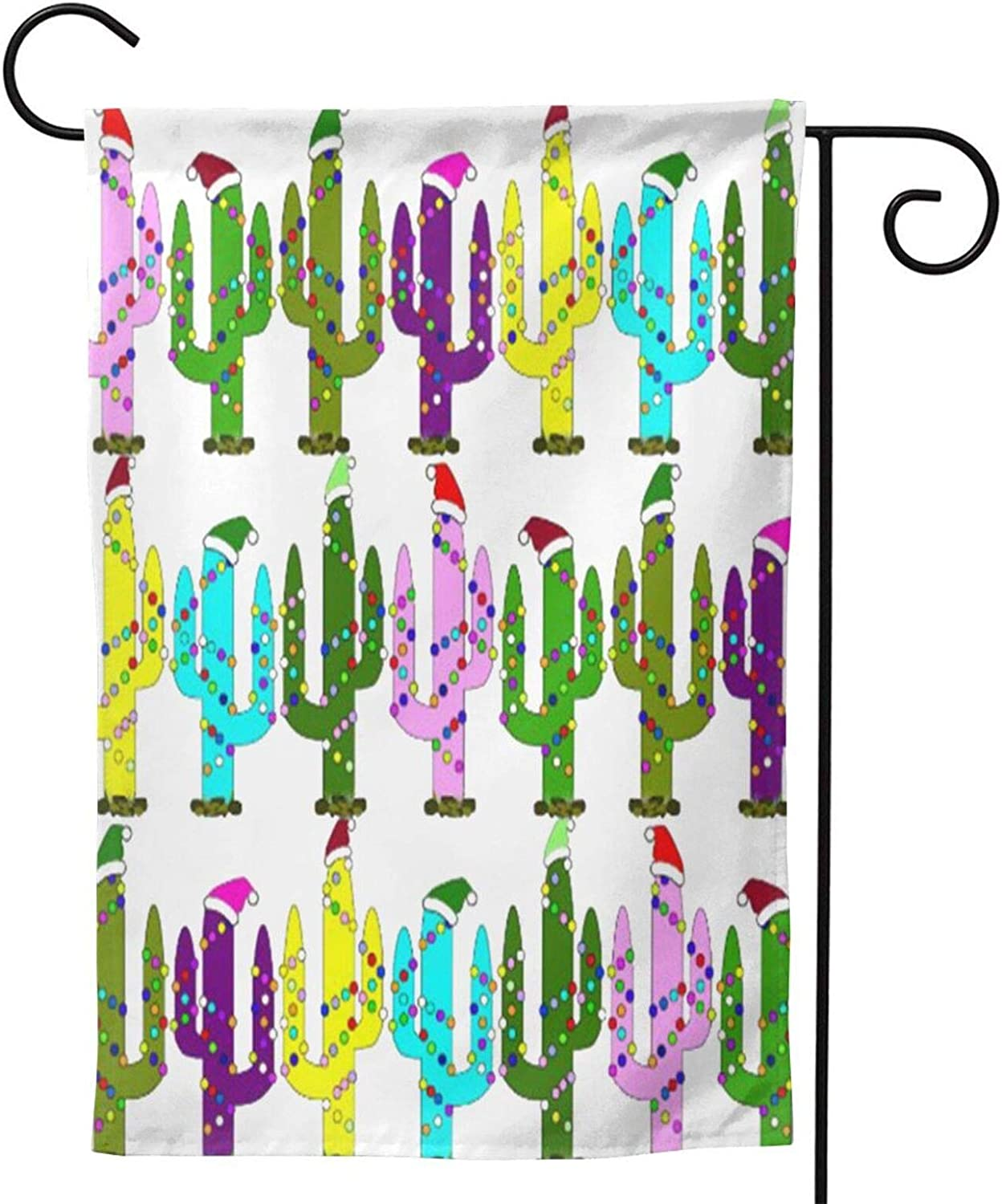 Mmj Garden Flag Christmas Cactus Double-Sized Flag12.5x18.28x40inch Two Sided Inches Vivid Color and Uv Fade Resistant