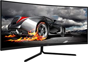 VIOTEK GNV34CB 34-Inch Ultrawide Curved Gaming Monitor | 1080P 100Hz 21:9 | Ultra-Bright VA Panel w/Dynamic Color + FreeSync | HDMI DVI DP 3.5mm | Deep 1500R Curvature (VESA)