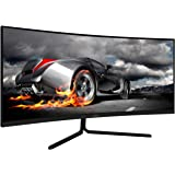 VIOTEK GNV34CB 34-Inch Ultrawide Curved Gaming Monitor | 1080P 100Hz 21:9 | Ultra-Bright VA Panel w/Dynamic Color…