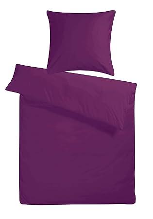 Kühle Mako Satin Hotelbettwäsche In Exklusiver Hotelqualität 155 X 220 Cm Lila Violett übergröße Aus 100 Baumwolle Für Besten Schlafkomfort