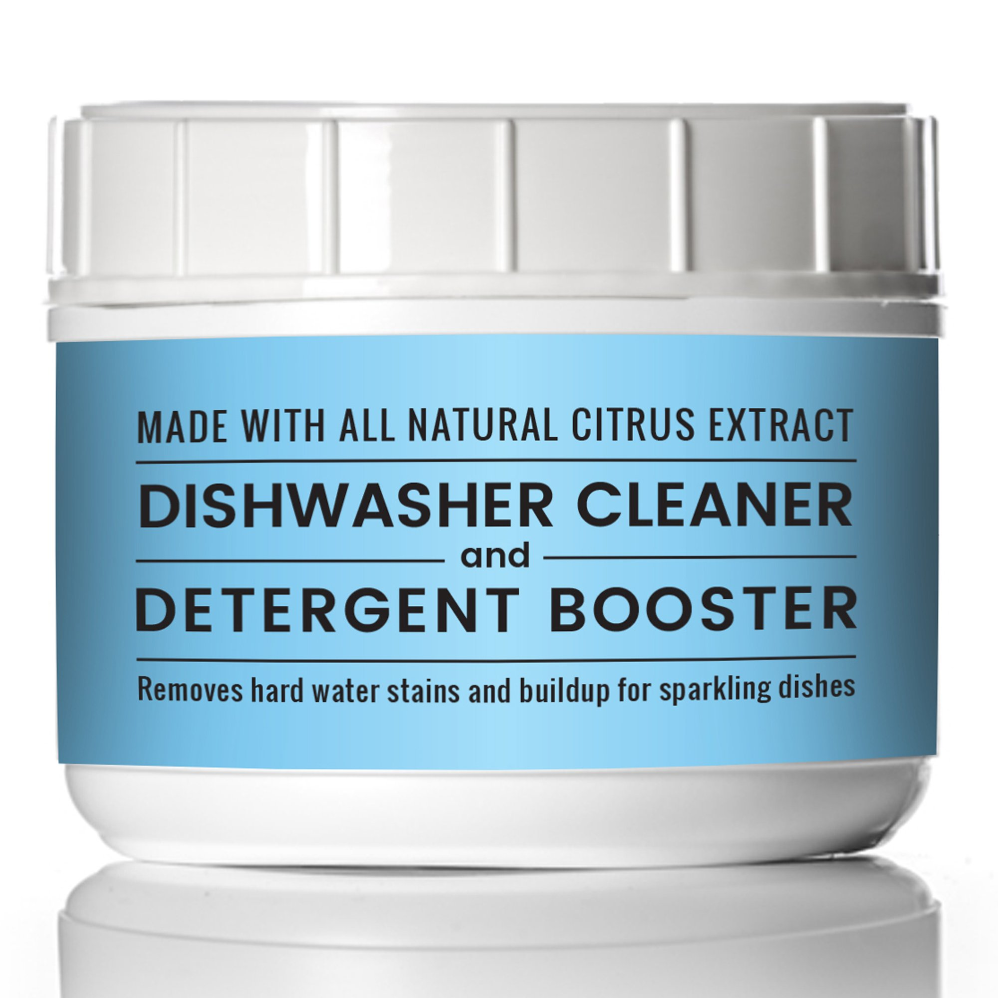 Pure Organic Dishwasher Cleaner & Detergent Booster 32 oz Dishwasher Additive, All Natural, Resealable Tub with Scoop (2 lb (32 oz))