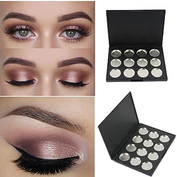 Amazon.com: theshy 12 caja de sombra de ojos vacía negro ...